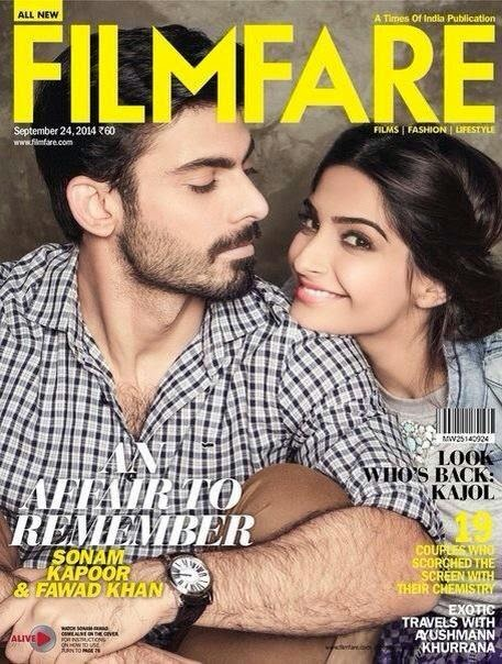 Sonam and the Dashing Fawad Khan on the sept issue of FILMFARE