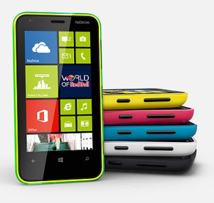 Nokia Lumia 620 stack