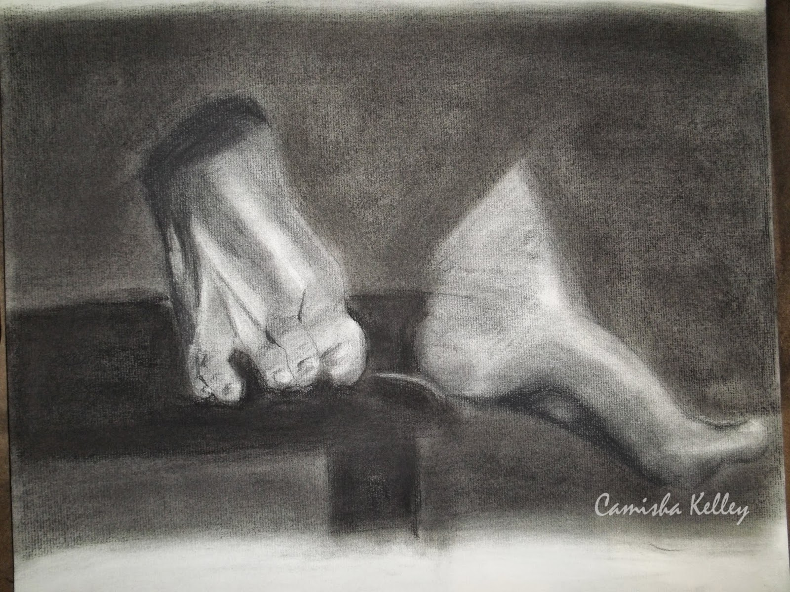 """Feet Study"" Started rendering, these after I did the hand and apple picture. There is still work to be done."
