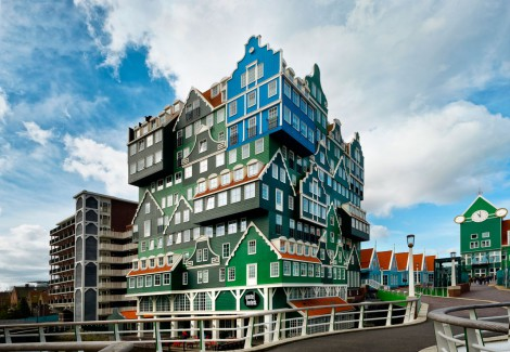 Opened On March 201o This Amazing Building Features Overlapping Green Wooden Facades Typical Of Traditional Houses In The Region