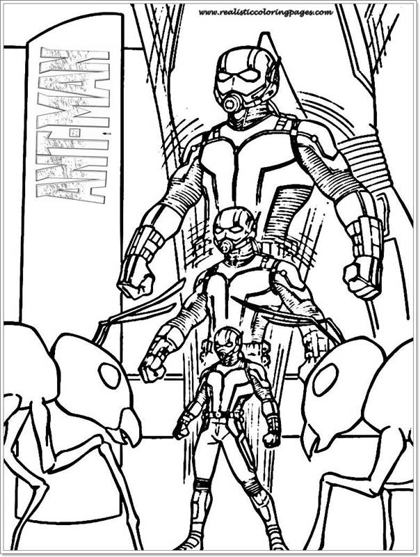 Free Coloring Pages Of Ant Man Print