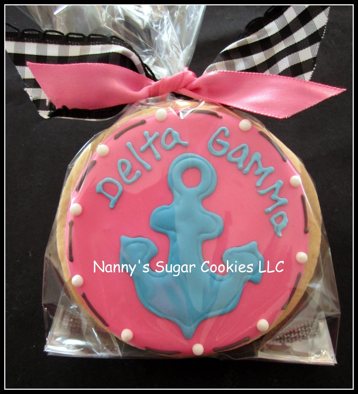 Nanny\'s Sugar Cookies LLC: Sorority Cookies