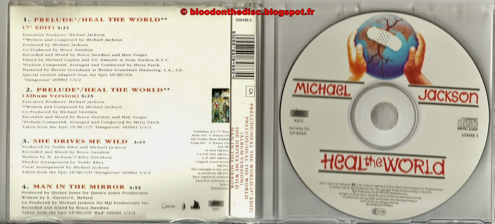 Heal The World Maxi CD Picture