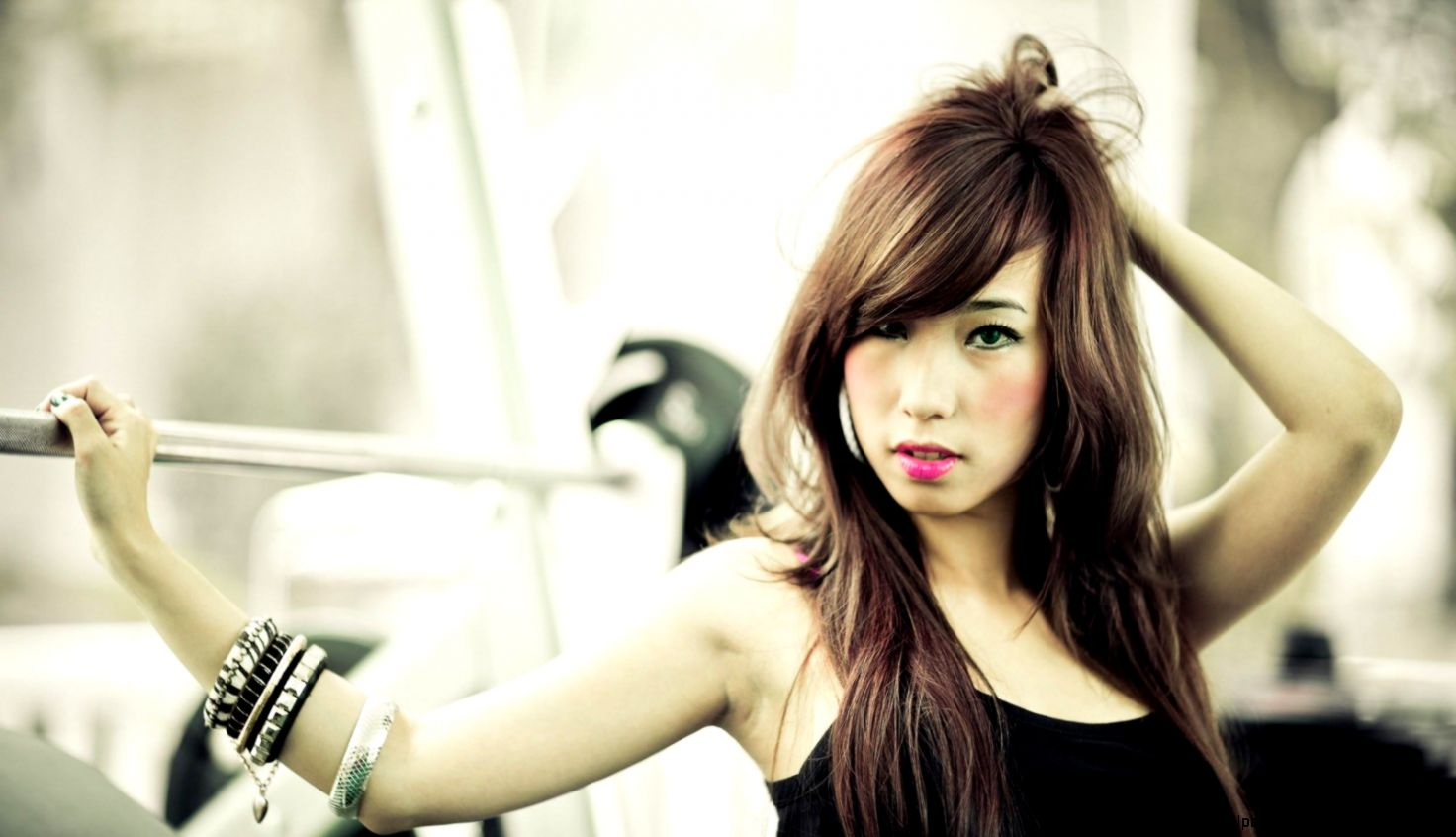 Style Portrait Asian Girl Bracelets Gym Makeup Hd Wallpaper