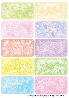 Etiquetas de flores para imprimir