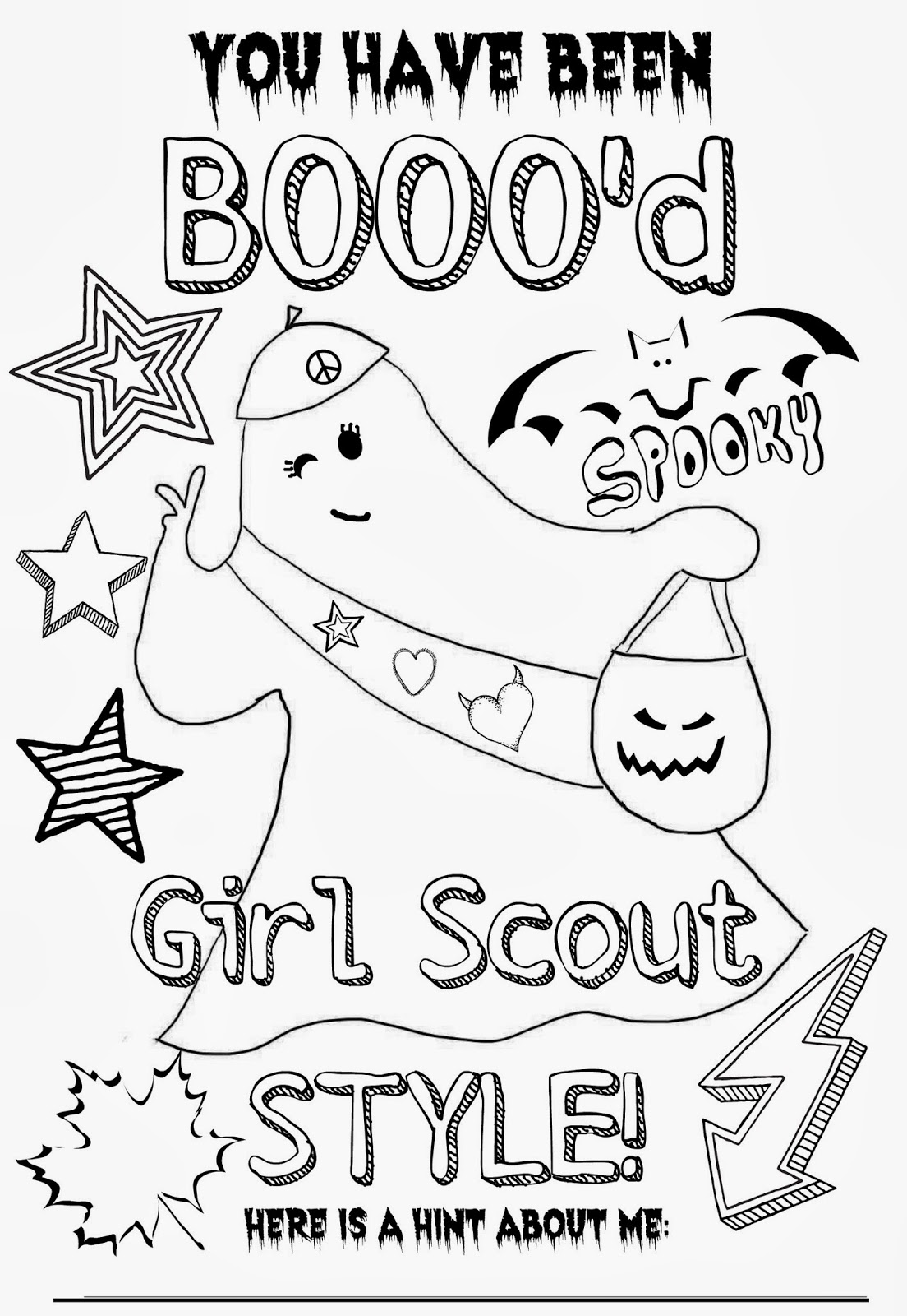 free coloring pages of girlscout cookies
