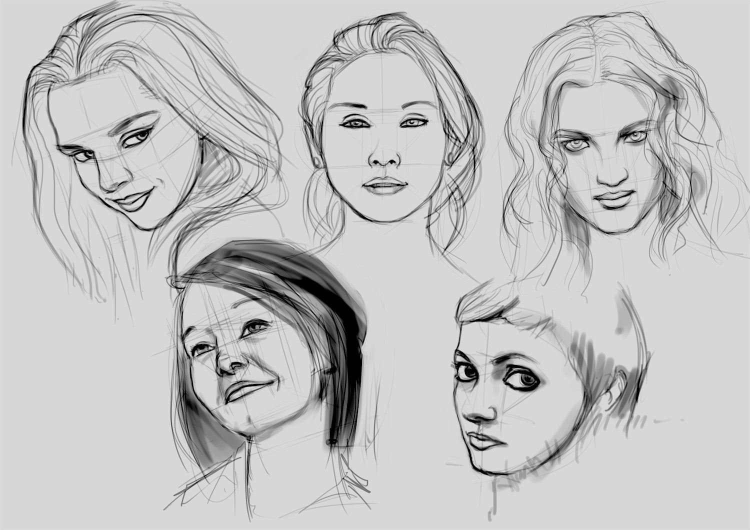Female faces drawings pornos tube