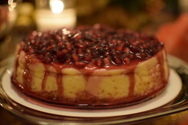 A Day In The Lalz; Pomegranate Cheesecake Recipe; Dessert, Cheesecake Recipe; Baking