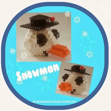 LEGO Snowman Head, Lego Creations, Winter Lego Creations