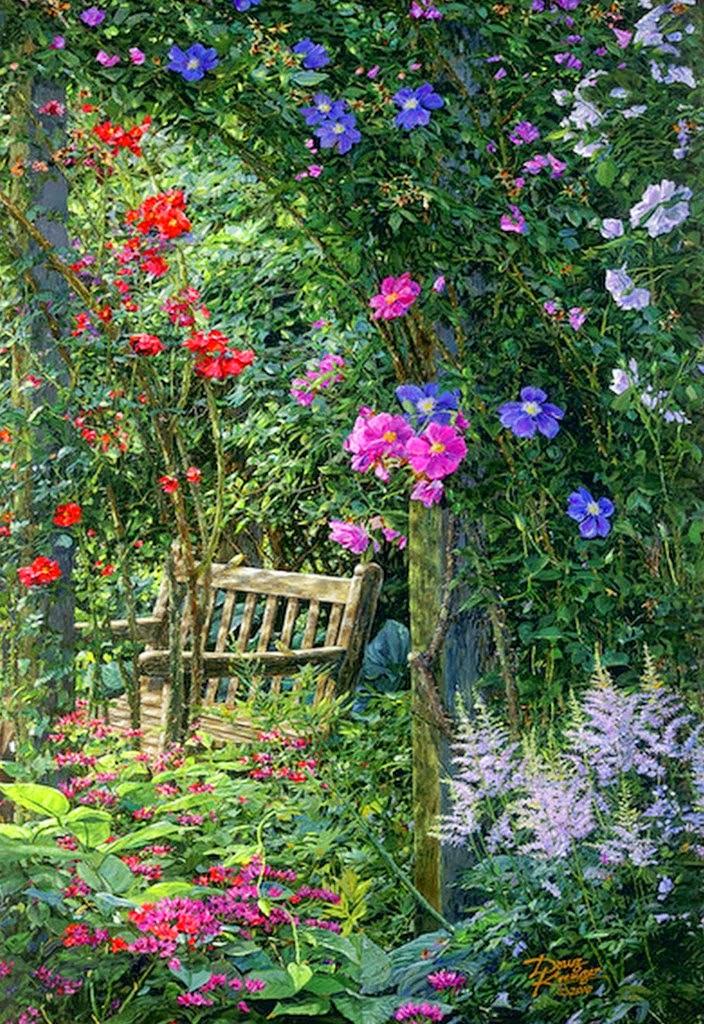 jardines-pintados-en-cuadros-al-oleo