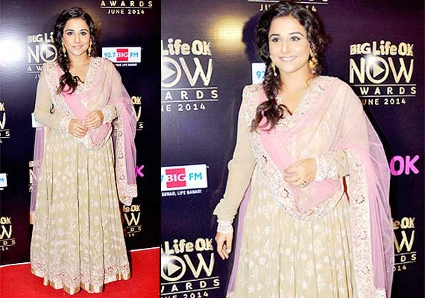 Vidya Balan At Life Ok Now Awards 2014