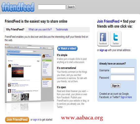 feeds rss divulgar blogs no friendfeed
