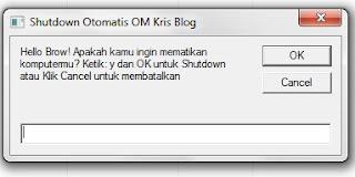 Membuat aplikasi Shutdown otomatis OM Kris Blog