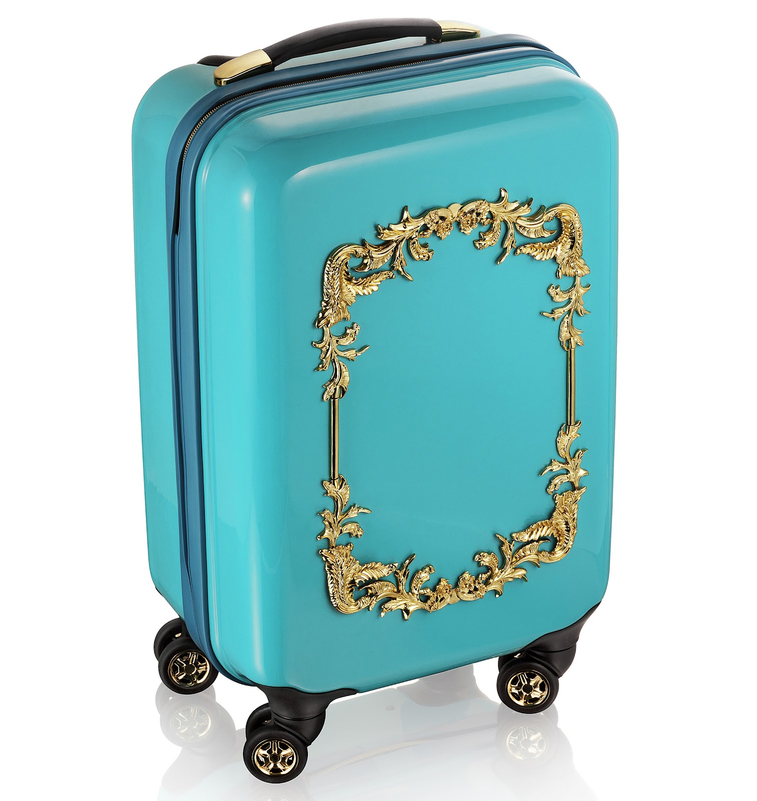 The Turquoise Trolley Suitcase (£99.99) With Gilt Motif Is Gorgeous And  There Is A Matching Beauty Case (£69.99) For You To Prop On Top With A Gold  Crown ...