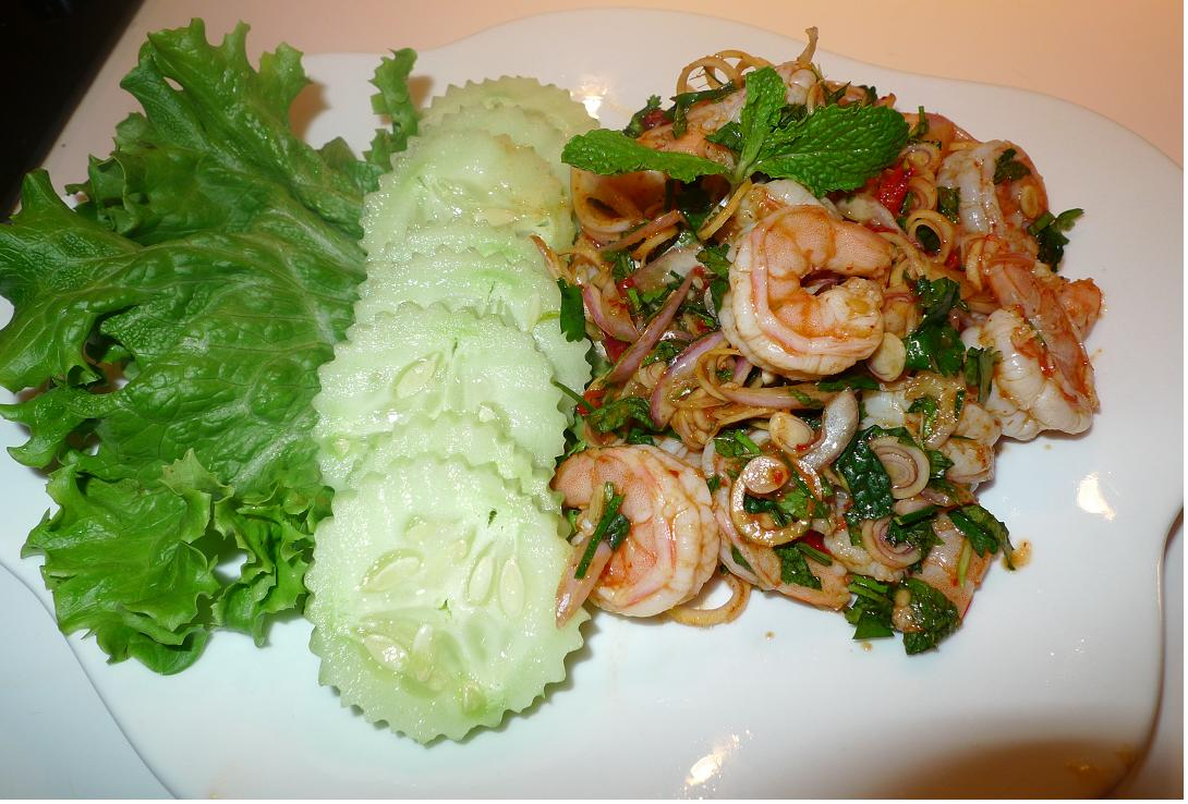 Amporn's Thai Kitchen: Thai spicy shrimp salad with lemongrass