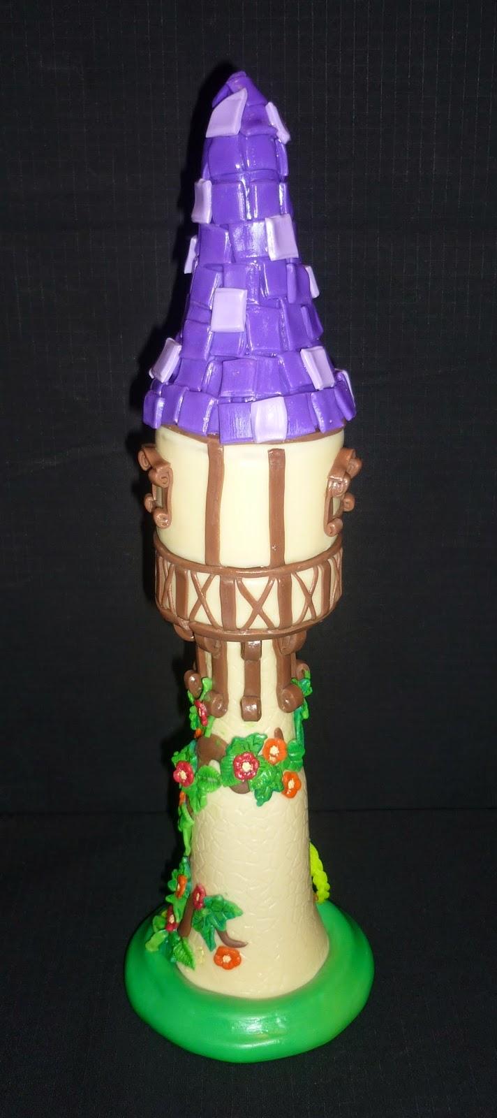 Minimandy. Adorno para Tortas. Rapunzel. Tangled. Enredados. Torre.