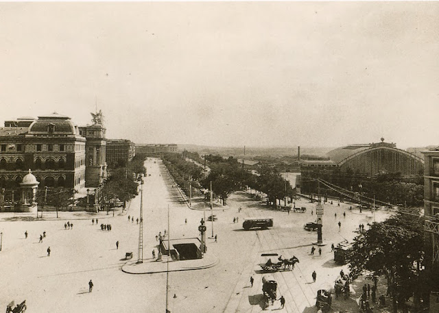 Glorieta de Atocha, Madrid 1920