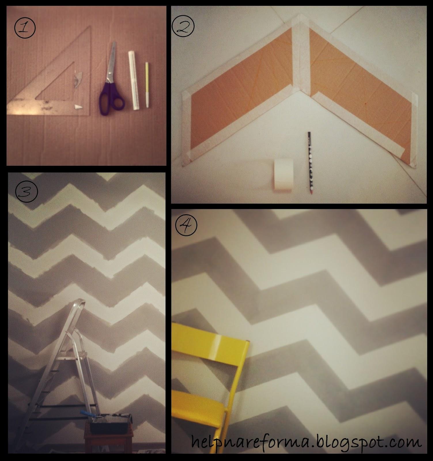 Help na reforma diy pintura que imita papel de parede - Pintura de pizarra para paredes ...