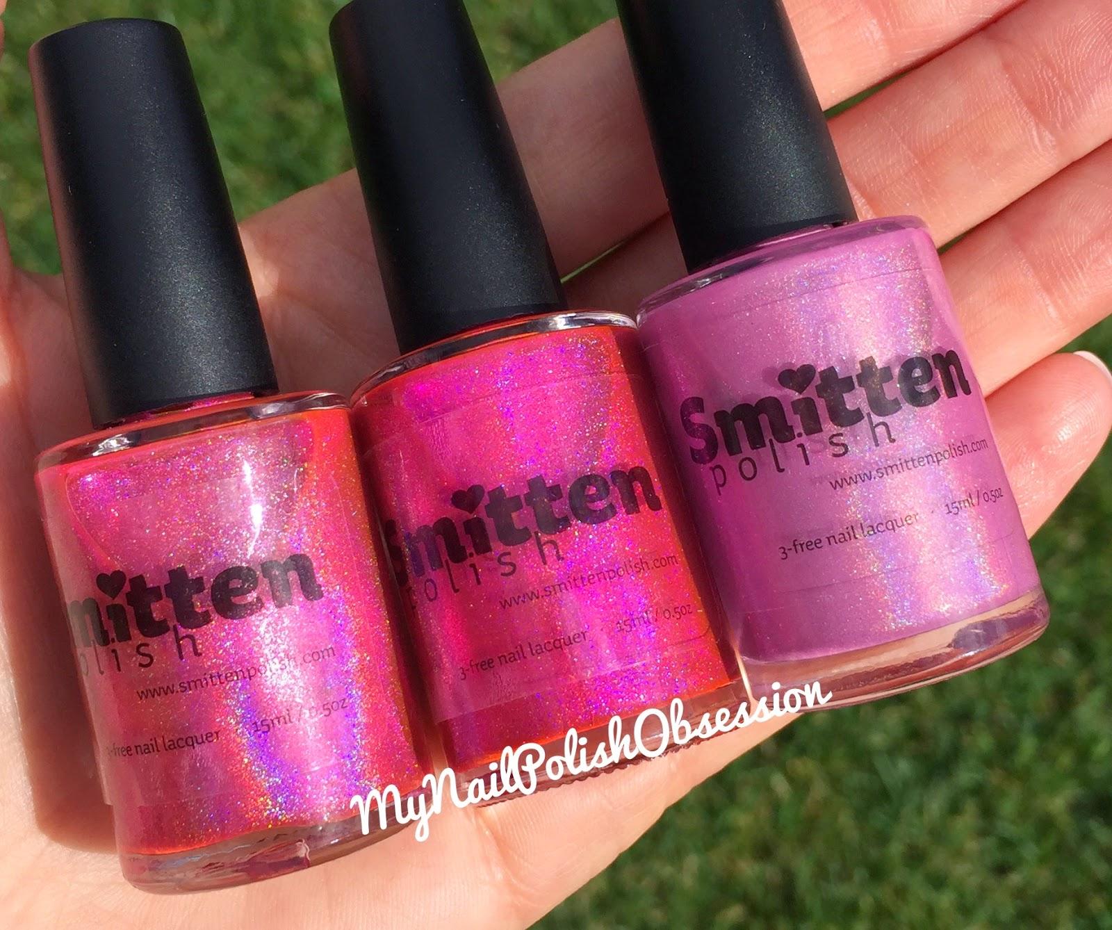 Smitten pink comparison
