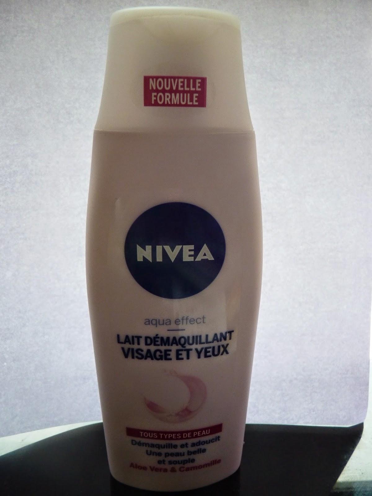 démaquillant nivéa, lait démaquillant, visage et yeux, 200ml, 2€