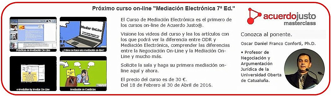 Acuerdo Justo Master Class: Curso On-line de Mediación Electrónica
