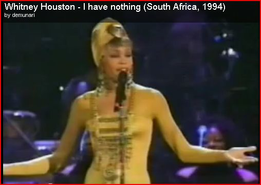 Whitney Houston at a Cultural Health High Point In South Africa