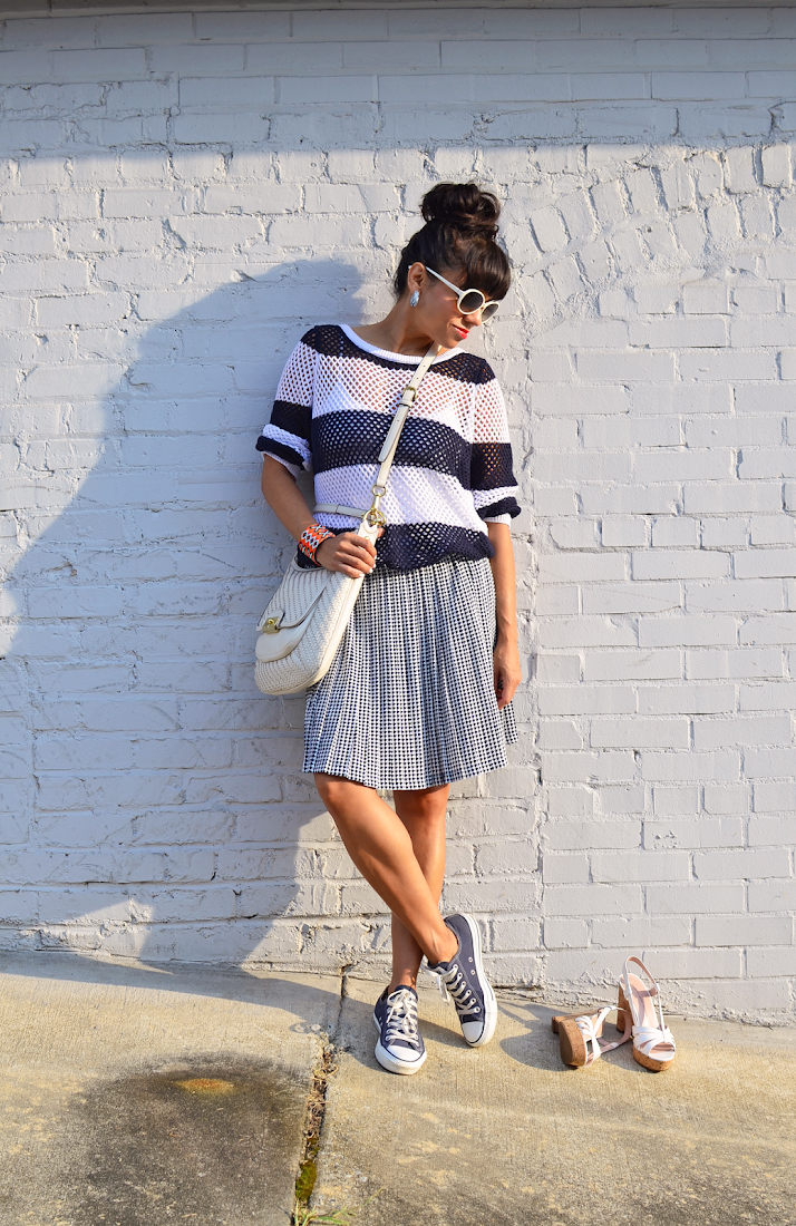 CONVERSE WITH SKIRT STREET STYLE
