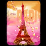 Grosir Selimut Kendra Soft Panel Blanket I Love Paris