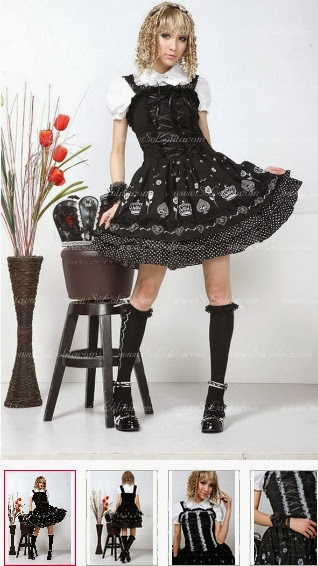 http://www.sololita.com/black-floral-lapel-short-sleeves-punk-lolita-dress-p-1469.html