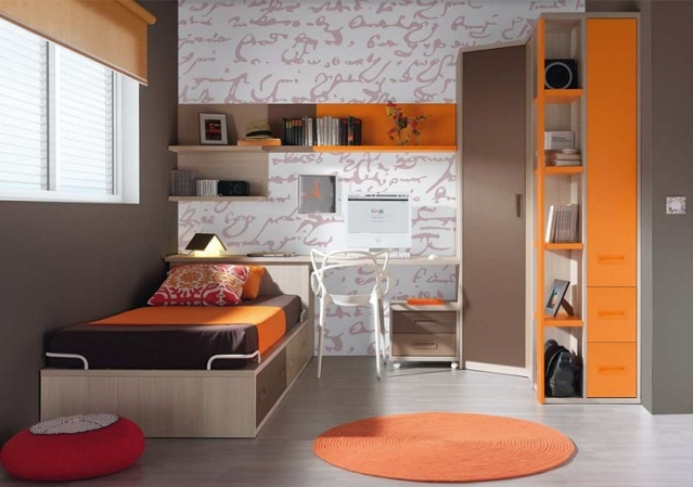 Dormitorios juveniles de color anaranjado - Colores de habitaciones juveniles ...