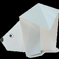 Origami Binatang Beruang Kutub