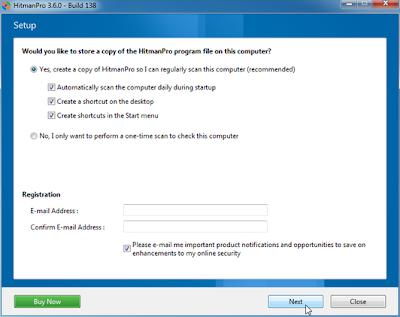 Selanjutnya HitmanPro 3.6 akan melakukan scaning, dan selamat mencoba ...
