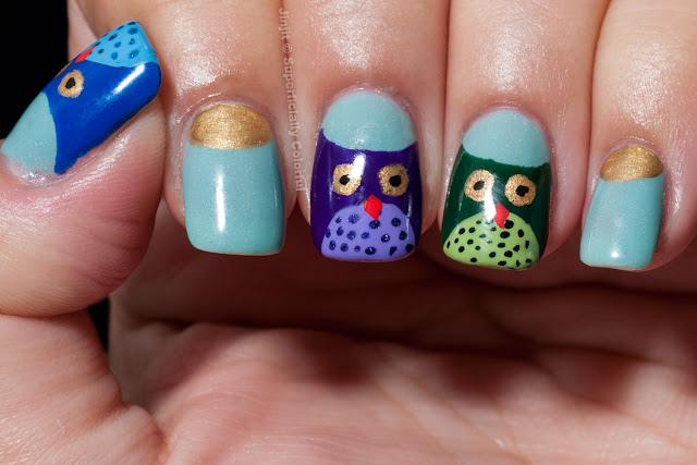 Owls Tutorial Nail Art over Elevation Polish Dykh-Tau