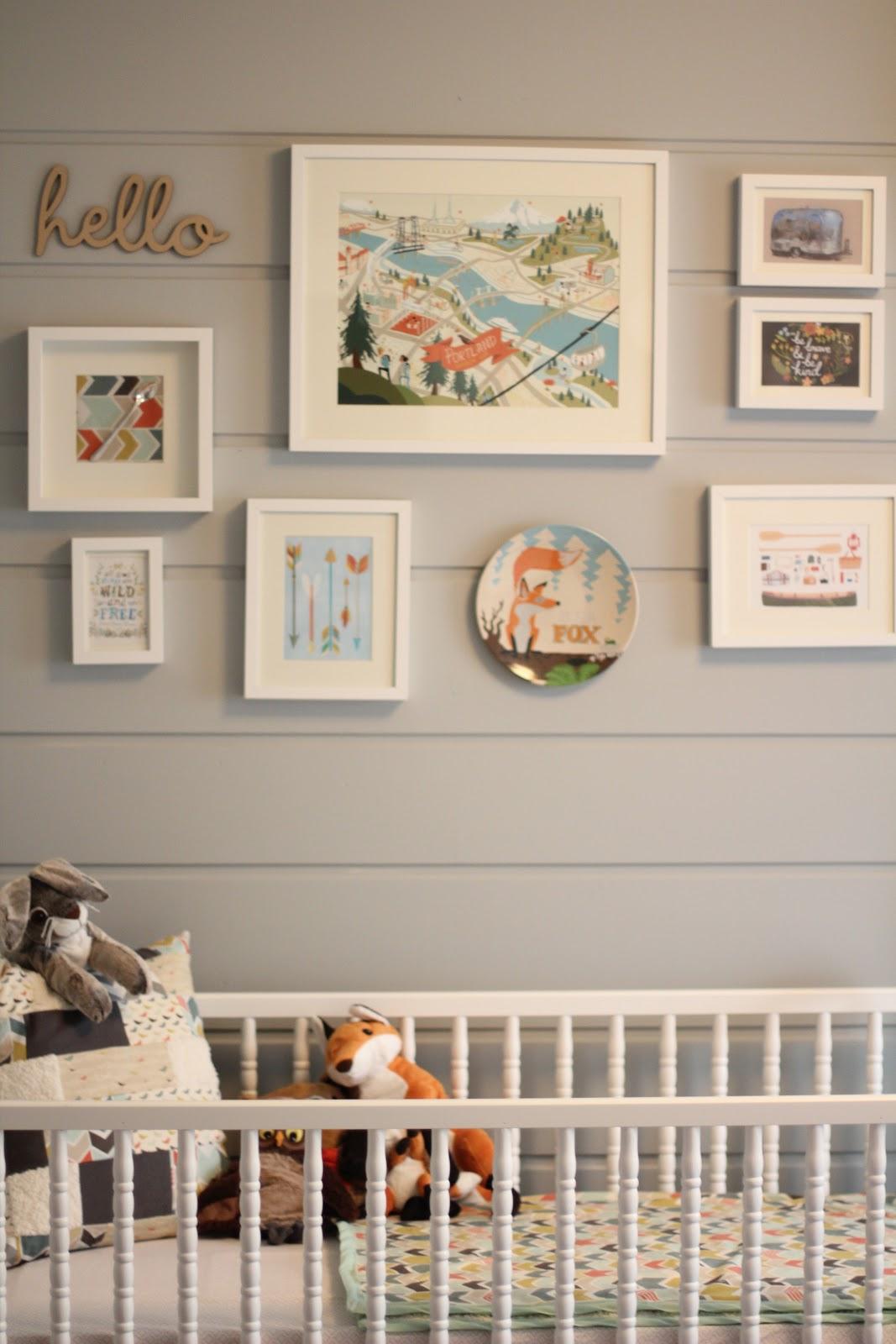 Fox nursery room : Baby fox nursery theme