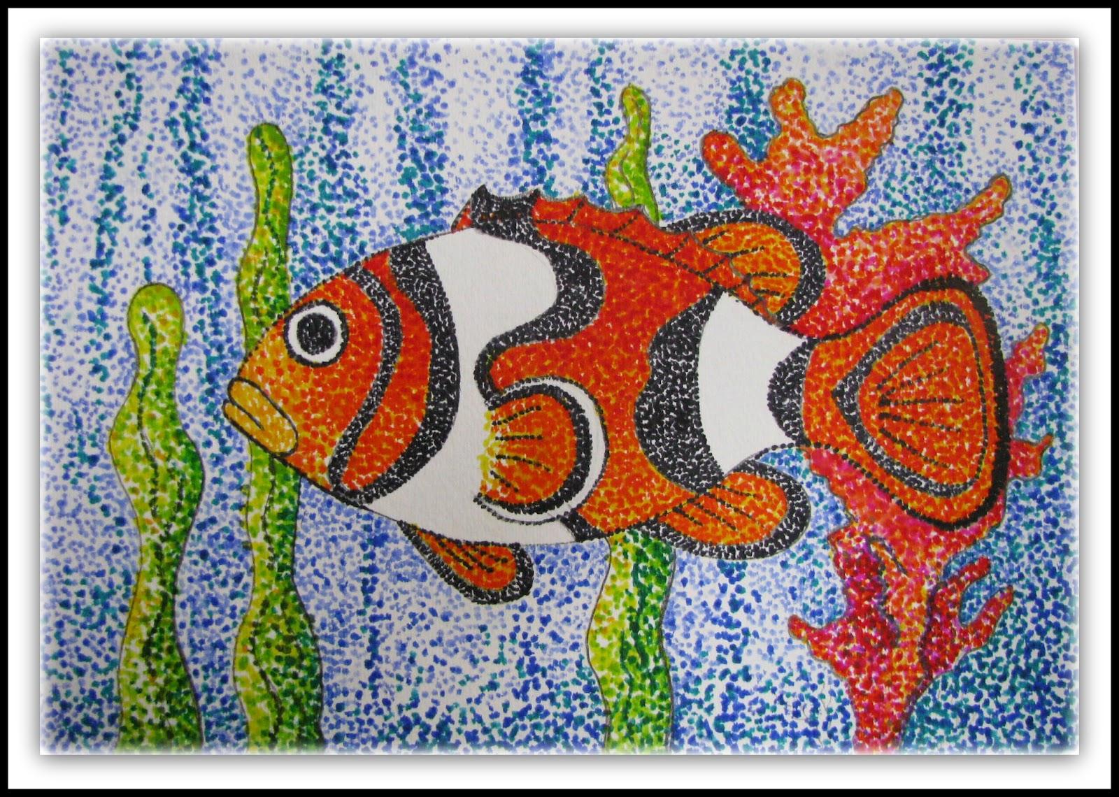 Plateau art studio june 2012 for Easy fish painting
