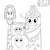 Desenhos de Creme Dental, Pasta de Dente, Escova de Dente, e Fio Dental para Colorir