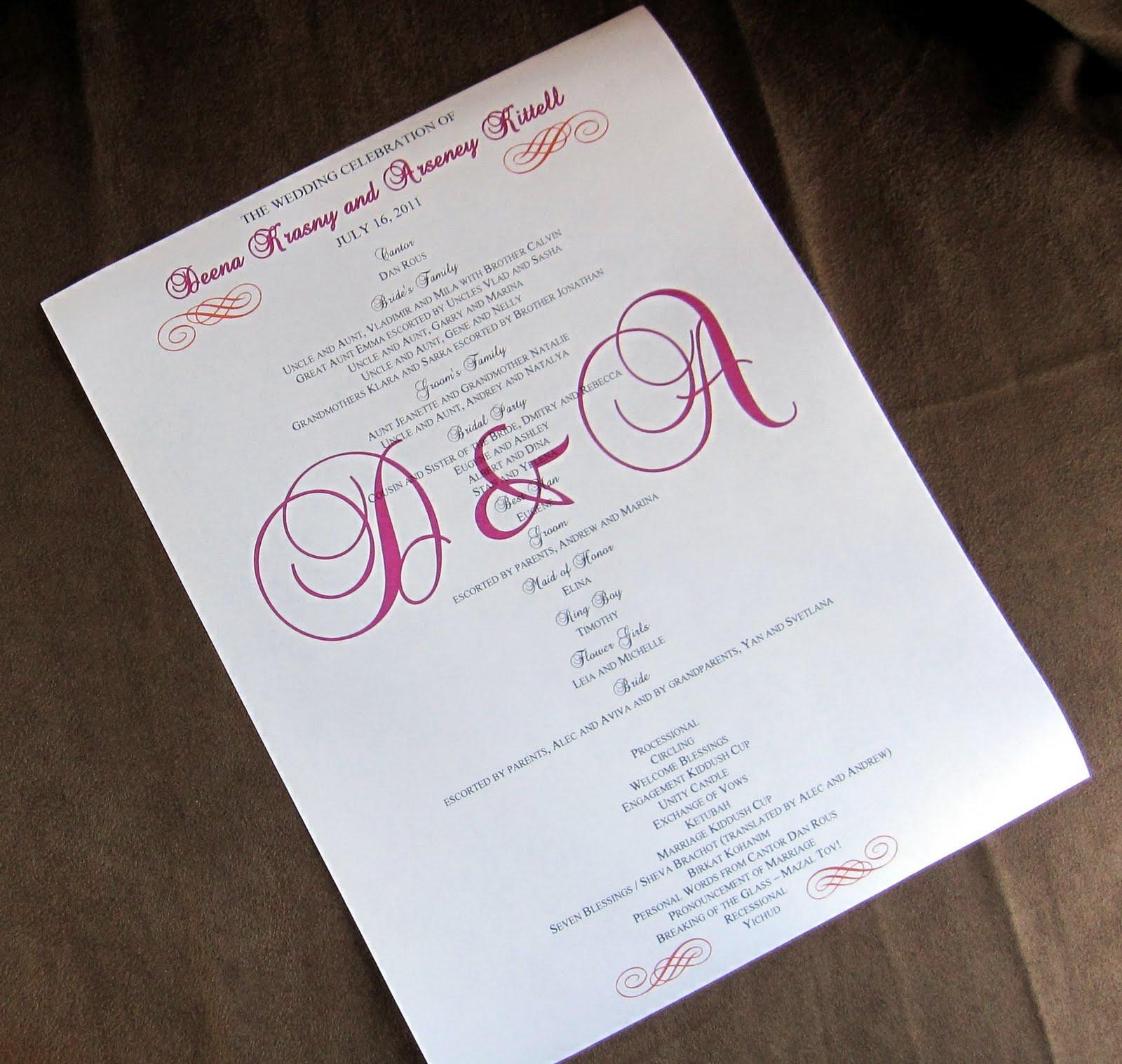 scrapping innovations  brittney  u0026 aaron and deena  u0026 arseney scroll wedding programs