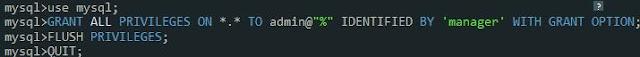 Creación Usuario MySQL