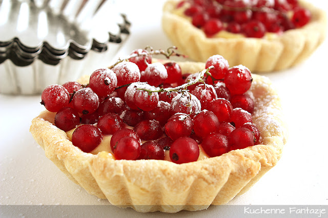 tartaletki, babeczki, kruche, tarta, pyszny, deser, owocowy, porzeczki