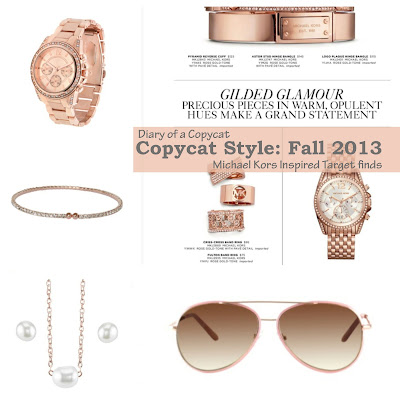 Diary of a Copycat Target Dupes MIchael Kors Rose Gold Fall 2013