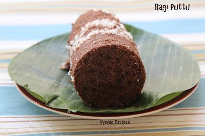 Easy Ragi Puttu(kerala Style) - Finger Millet Puttu - kezhvaragu puttu