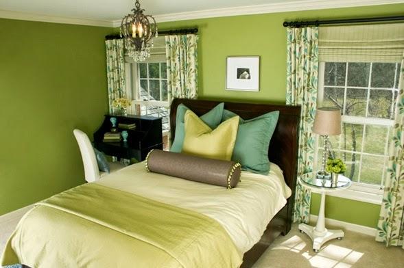 Dormitorios en verde marrón y blanco - Dormitorios colores ...