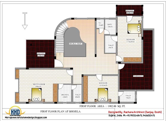 First floor house plan - 4200 Sq.Ft.