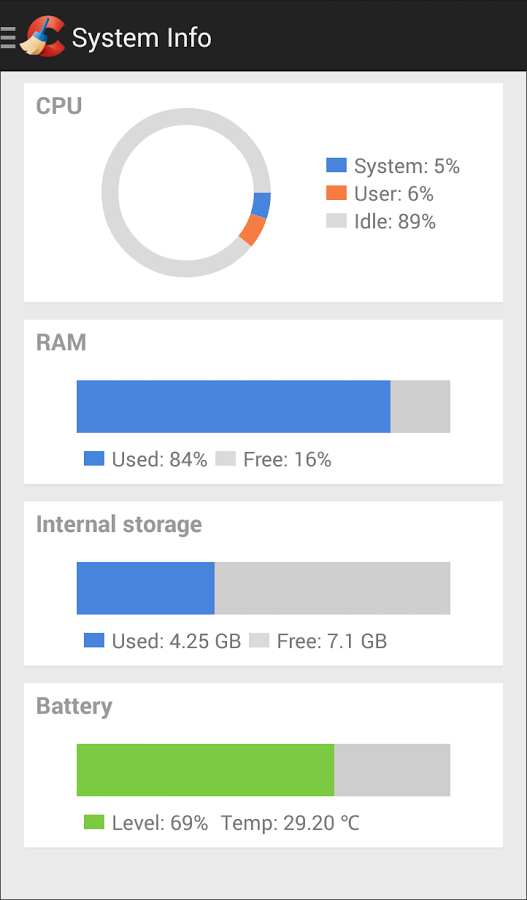 CCleaner System Info