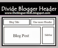 How to Divide Header In Two Parts or Sections in Blogspot Blog