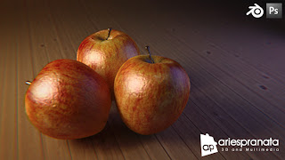 3D Apple with Blender Cycles