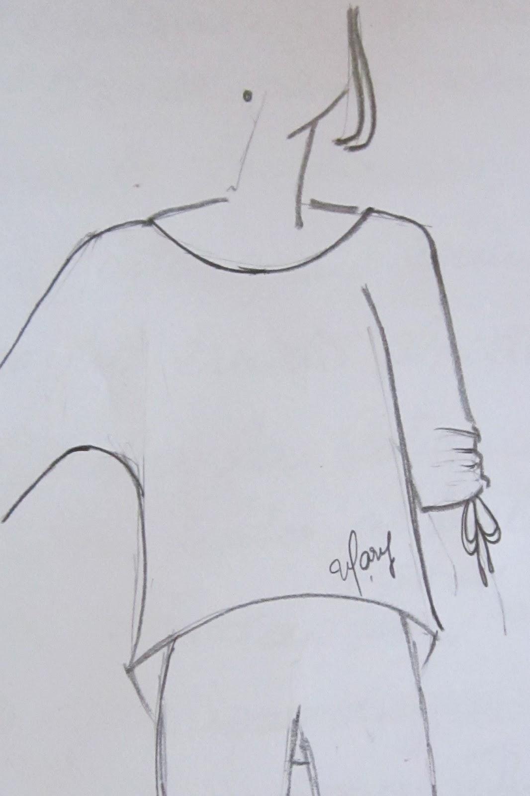 Blusa para niña manga dolman y bajo asimetrico