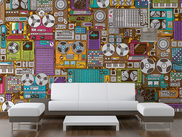Music themed wallpaper murals