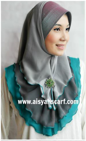 TUDUNG CHIFFON 3 LAYER from Aisyahscarf.com ::