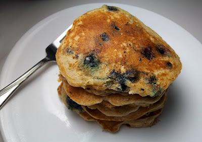 Blueberry Graham Pancakes